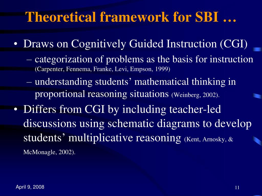 Theoretical framework for SBI …