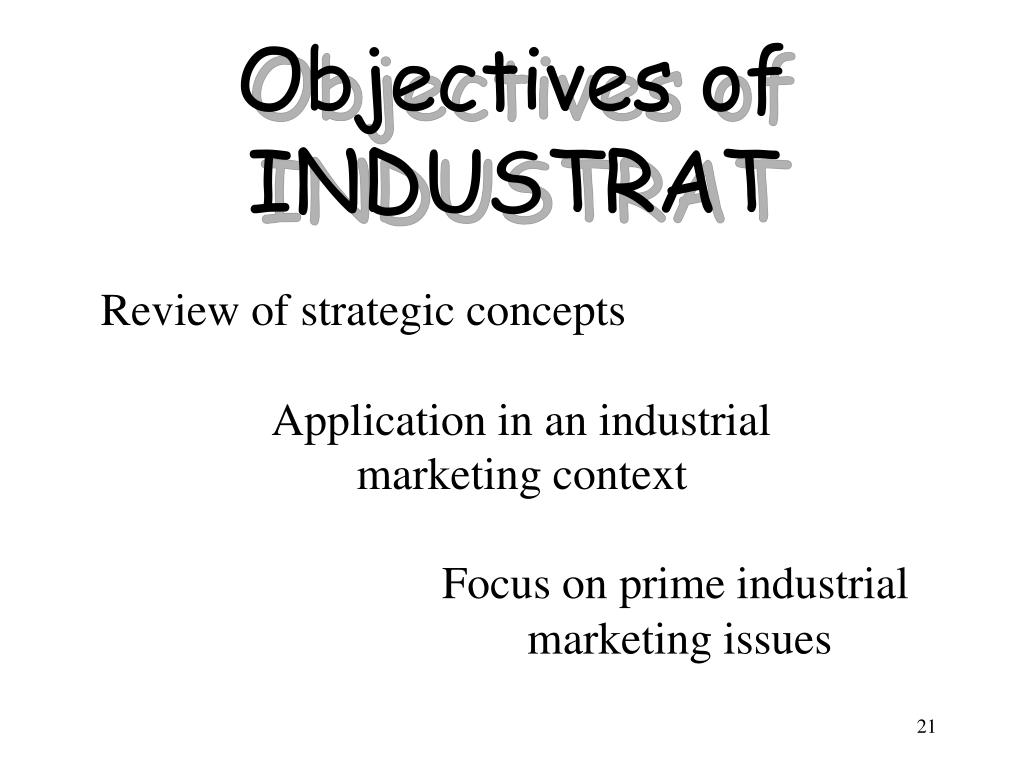Objectives of INDUSTRAT