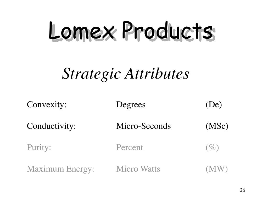 Lomex Products