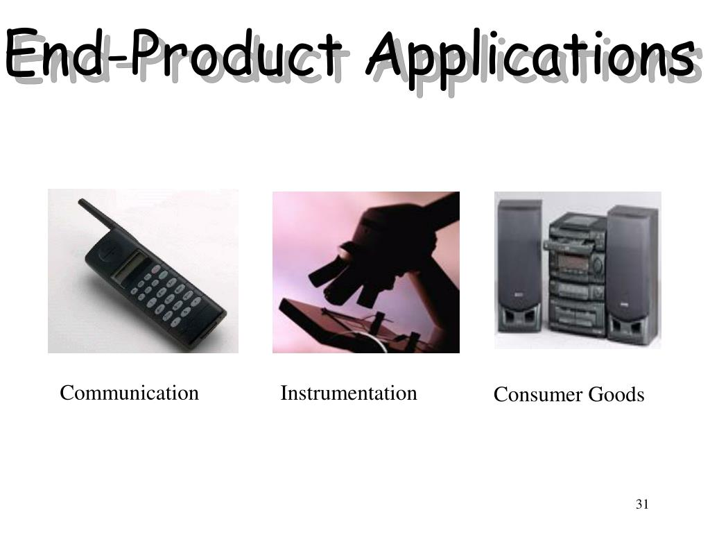 End-Product Applications