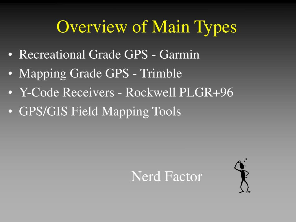 Overview of Main Types
