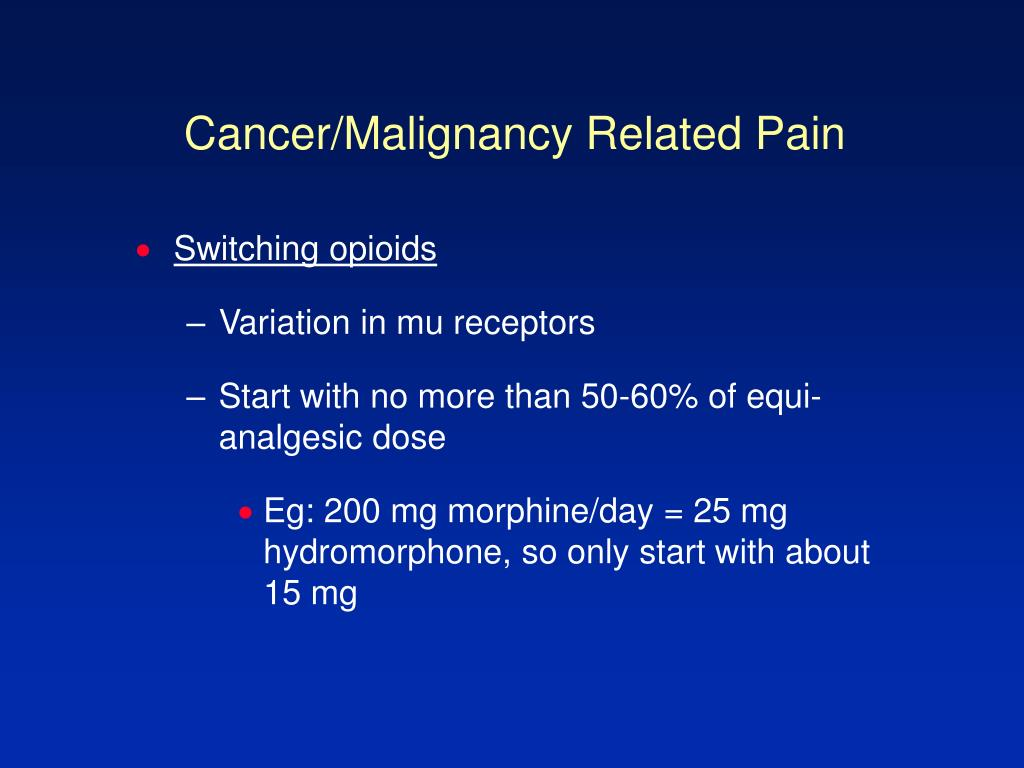 Cancer/Malignancy Related Pain