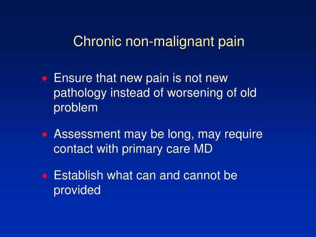 Chronic non-malignant pain