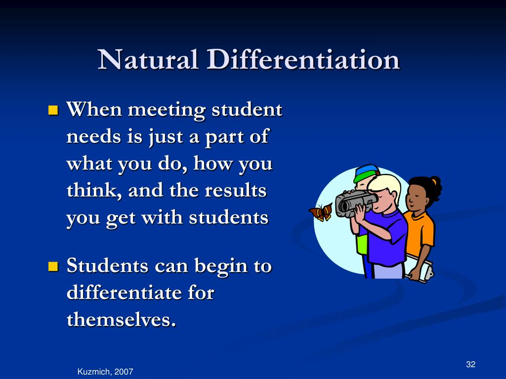 Natural Differentiation