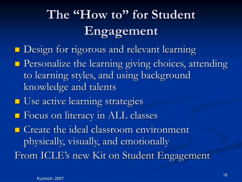 """The """"How to"""" for Student Engagement"""