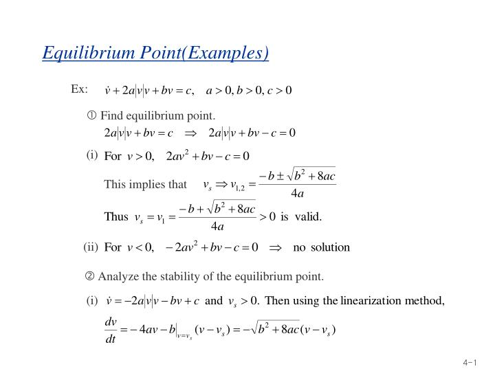 Equilibrium point examples