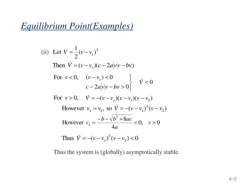 Equilibrium Point(Examples)
