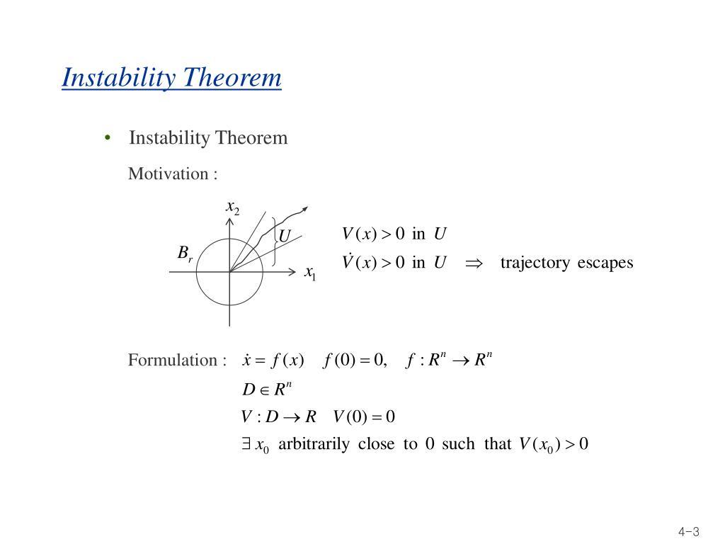 Instability Theorem