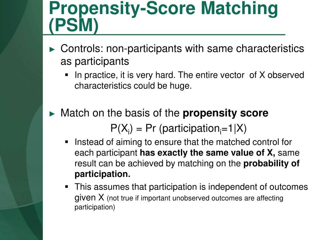 Propensity-Score Matching (PSM)