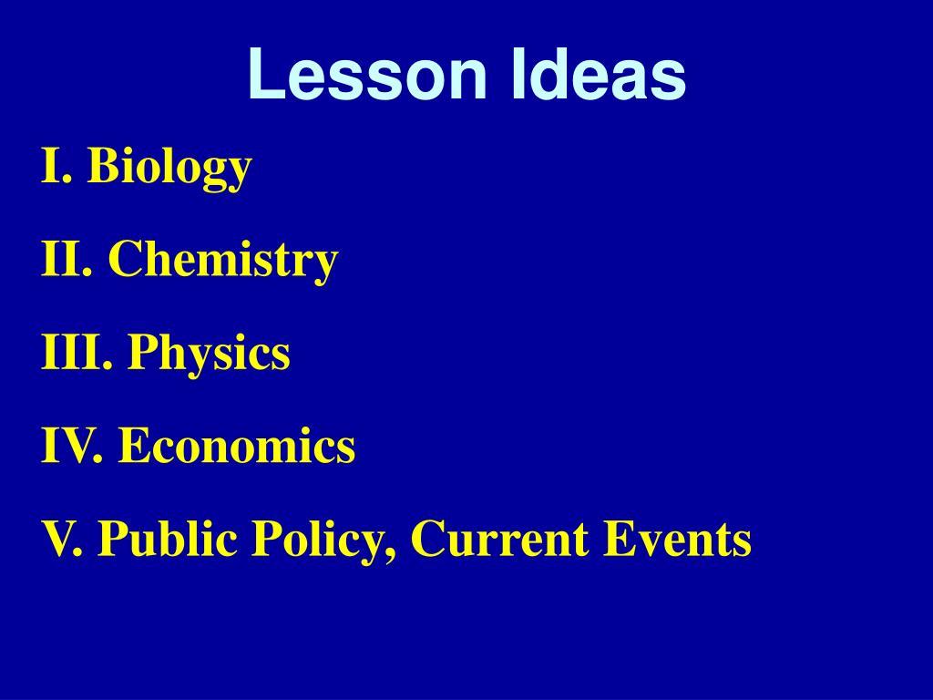 Lesson Ideas