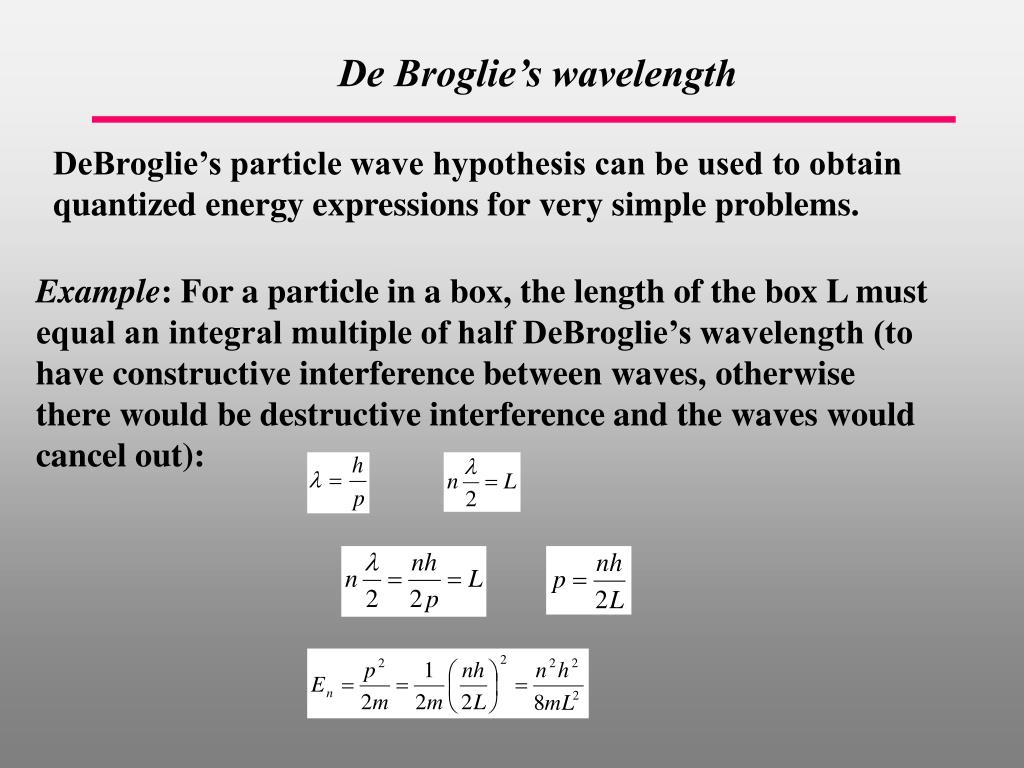 De Broglie's wave