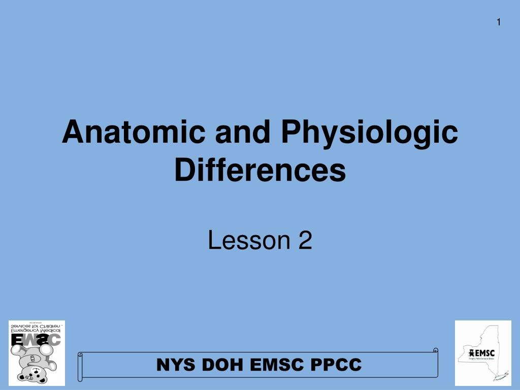 Anatomic and Physiologic Differences