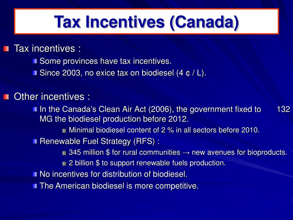 Tax Incentives (Canada)
