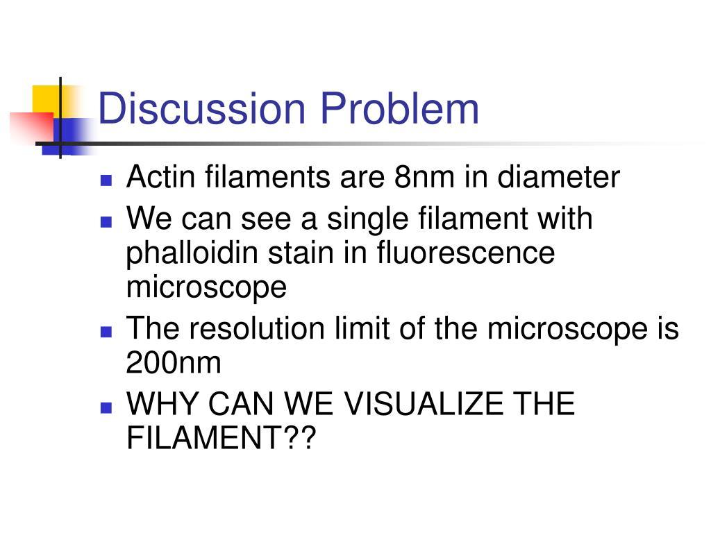 Discussion Problem