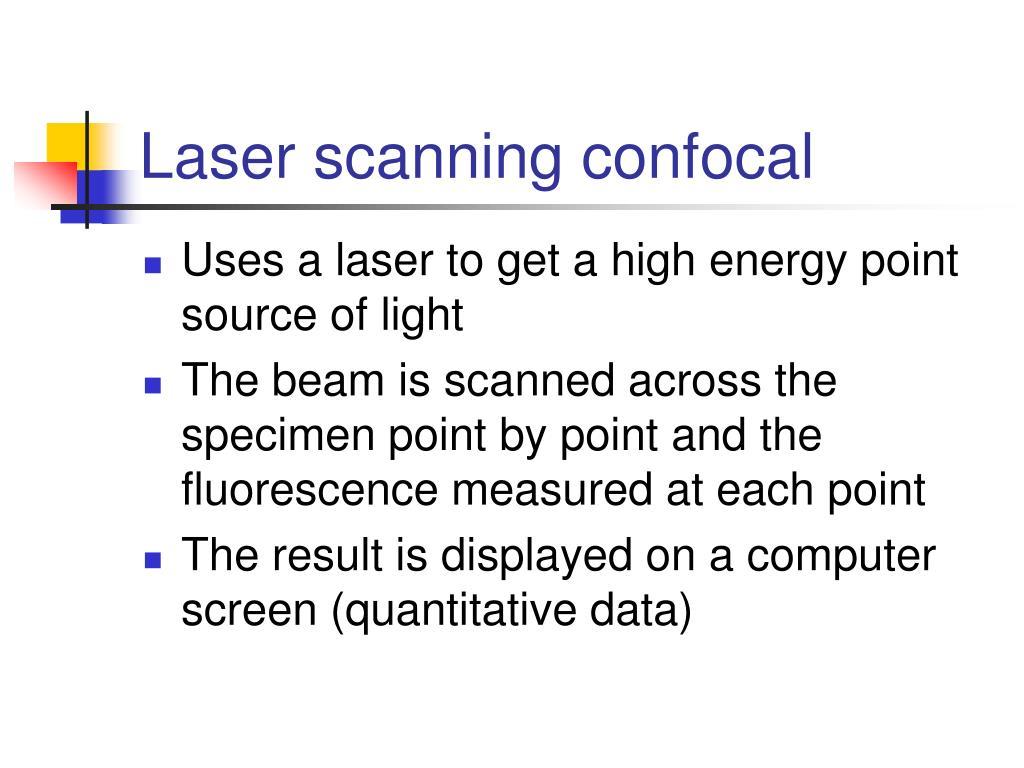 Laser scanning confocal