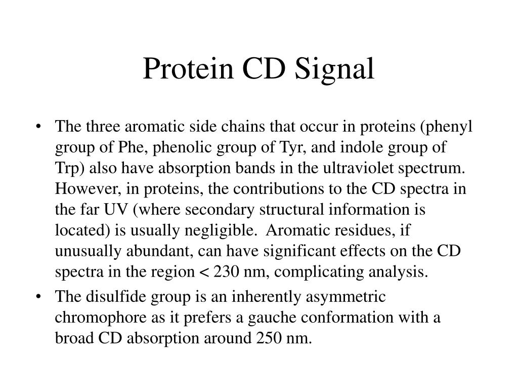 Protein CD Signal