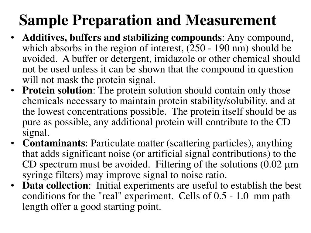 Sample Preparation and Measurement