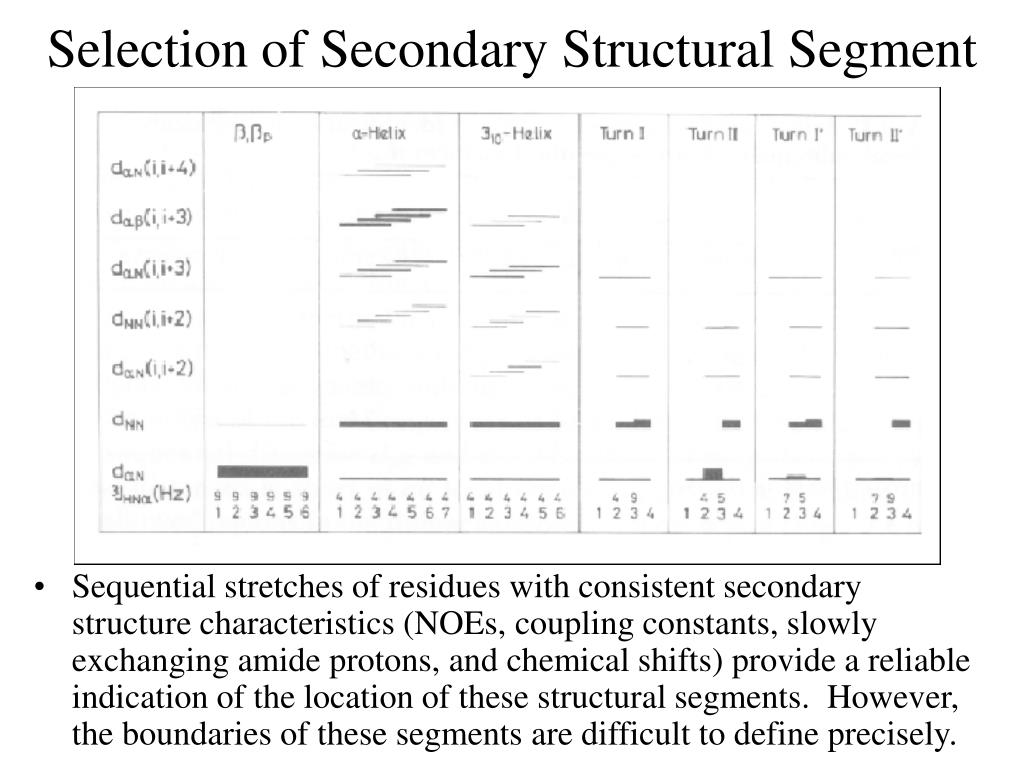 Selection of Secondary Structural Segment