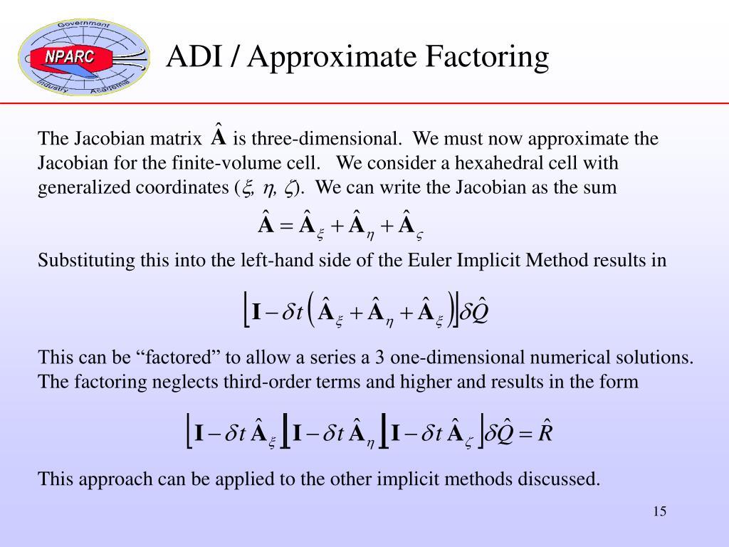 ADI / Approximate Factoring