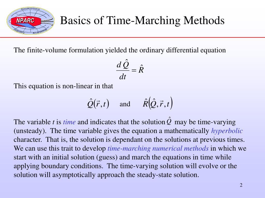 Basics of Time-Marching Methods
