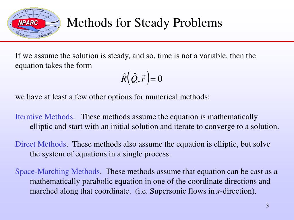 Methods for Steady Problems