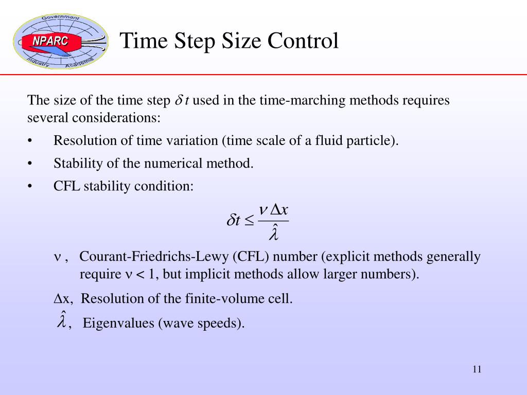 Time Step Size Control