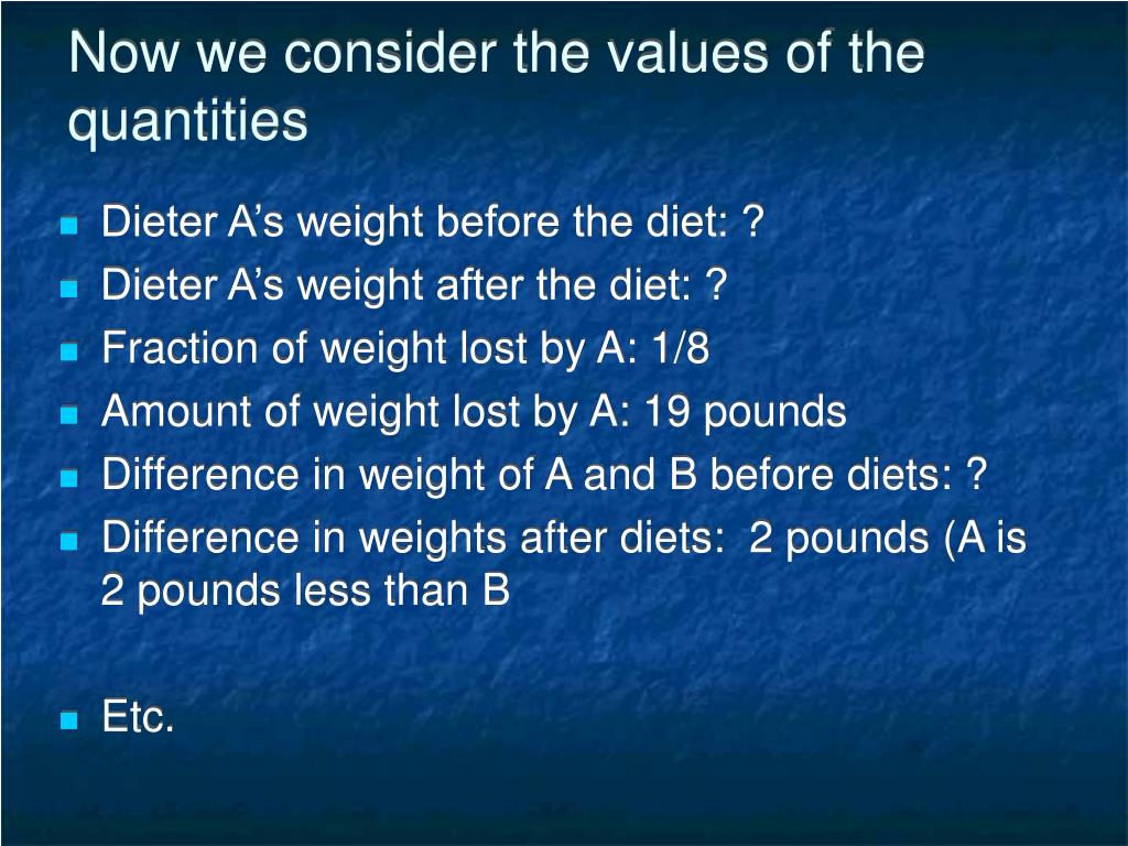 Now we consider the values of the quantities