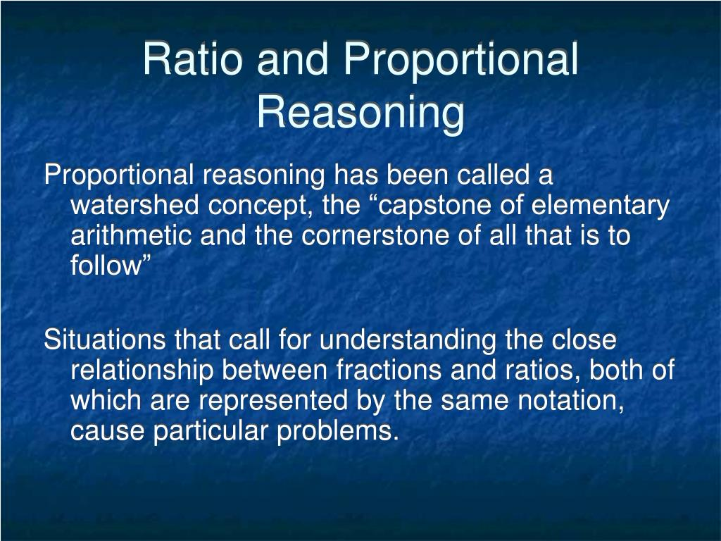 Ratio and Proportional Reasoning