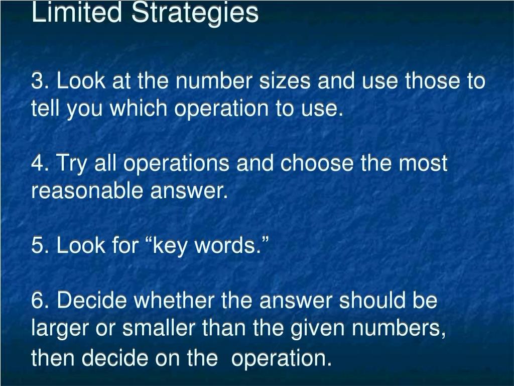 Limited Strategies