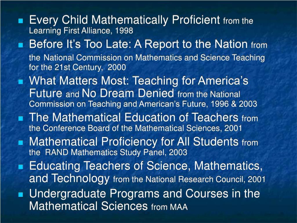 Every Child Mathematically Proficient