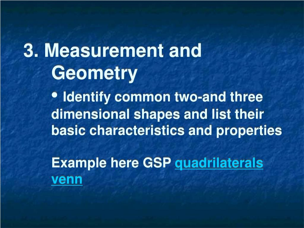 3. Measurement and Geometry