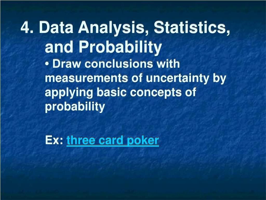 4. Data Analysis, Statistics, and Probability