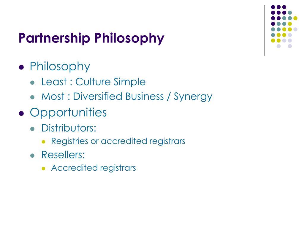 Partnership Philosophy