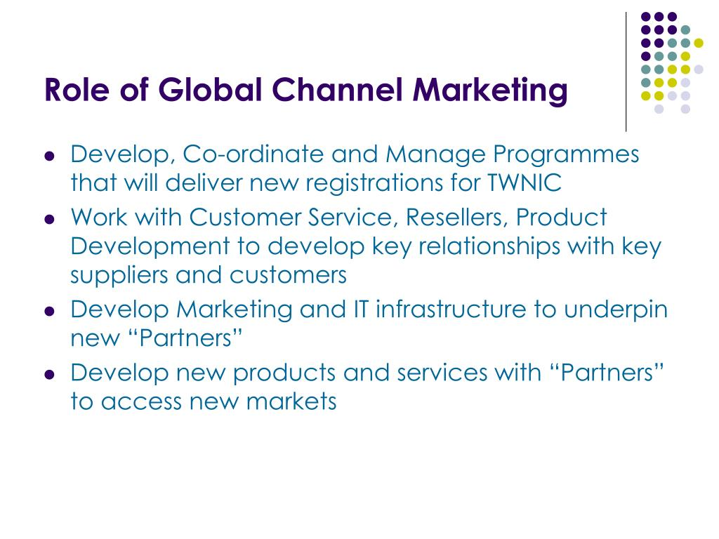 Role of Global Channel Marketing