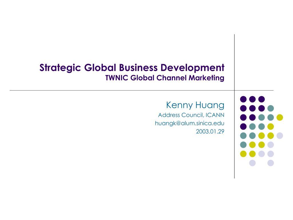 Strategic Global Business Development