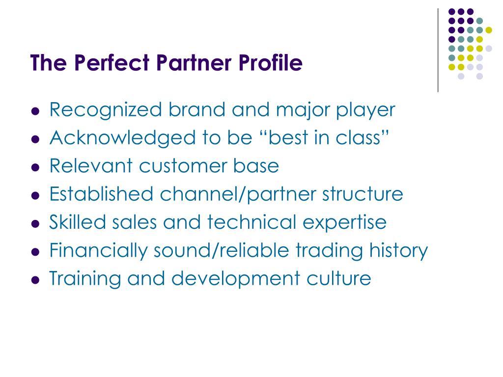 The Perfect Partner Profile