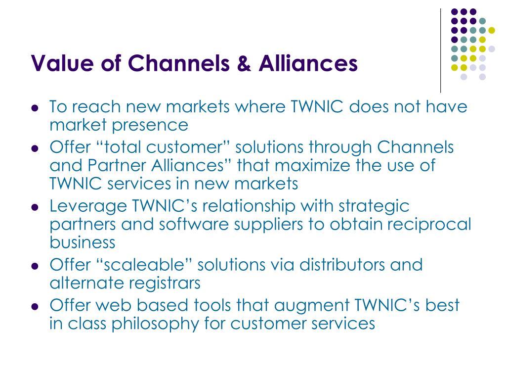 Value of Channels & Alliances