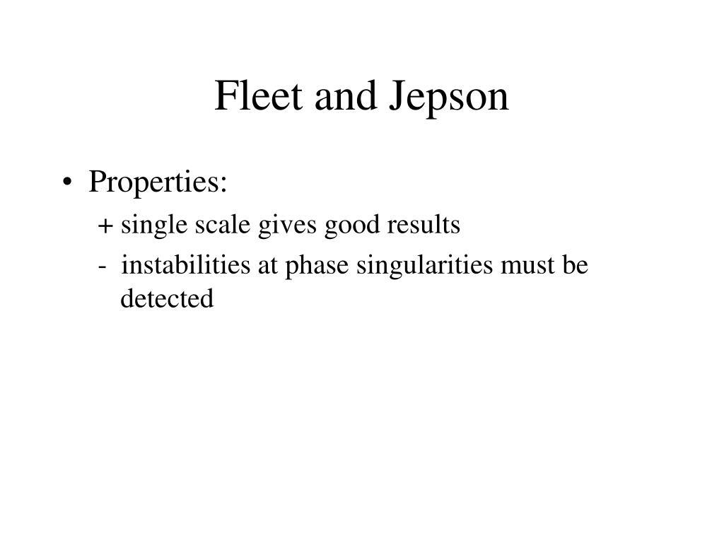 Fleet and Jepson