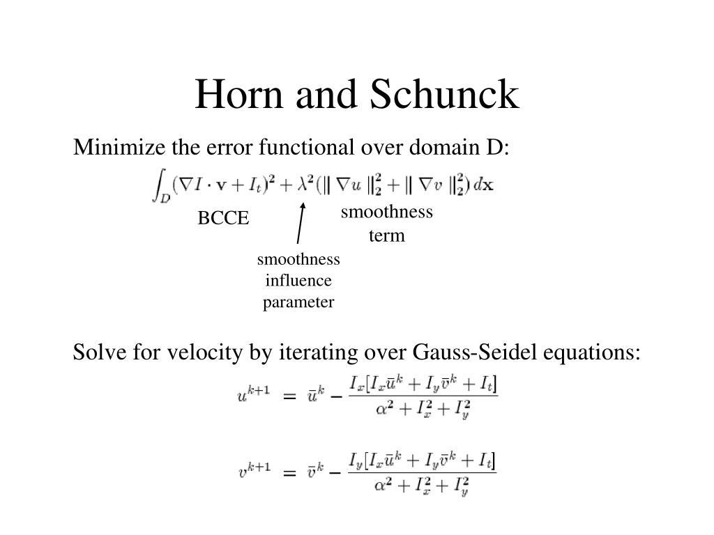 Horn and Schunck