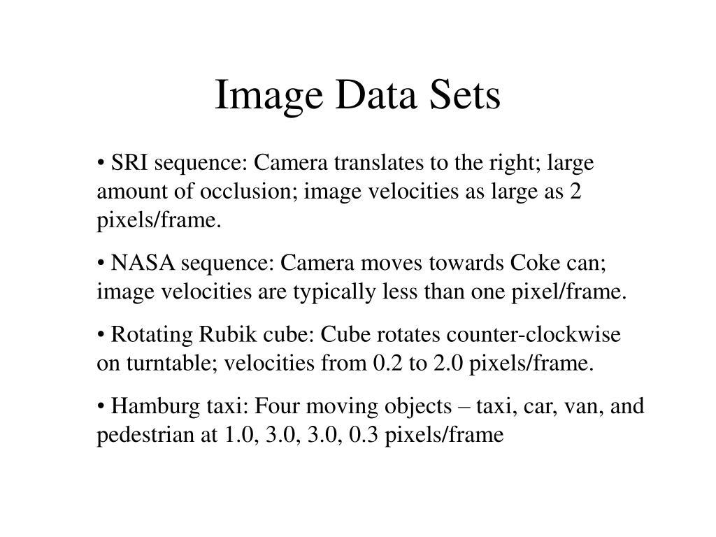 Image Data Sets