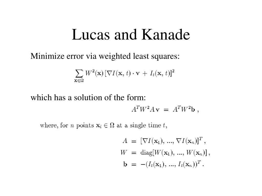 Lucas and Kanade