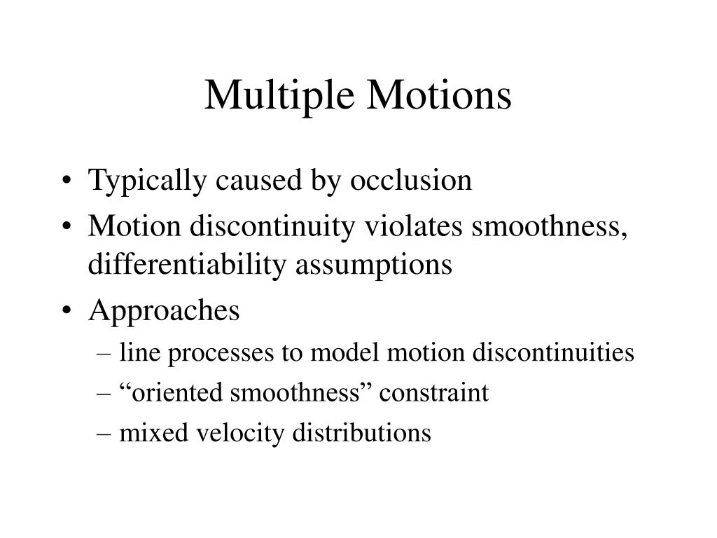 Multiple Motions
