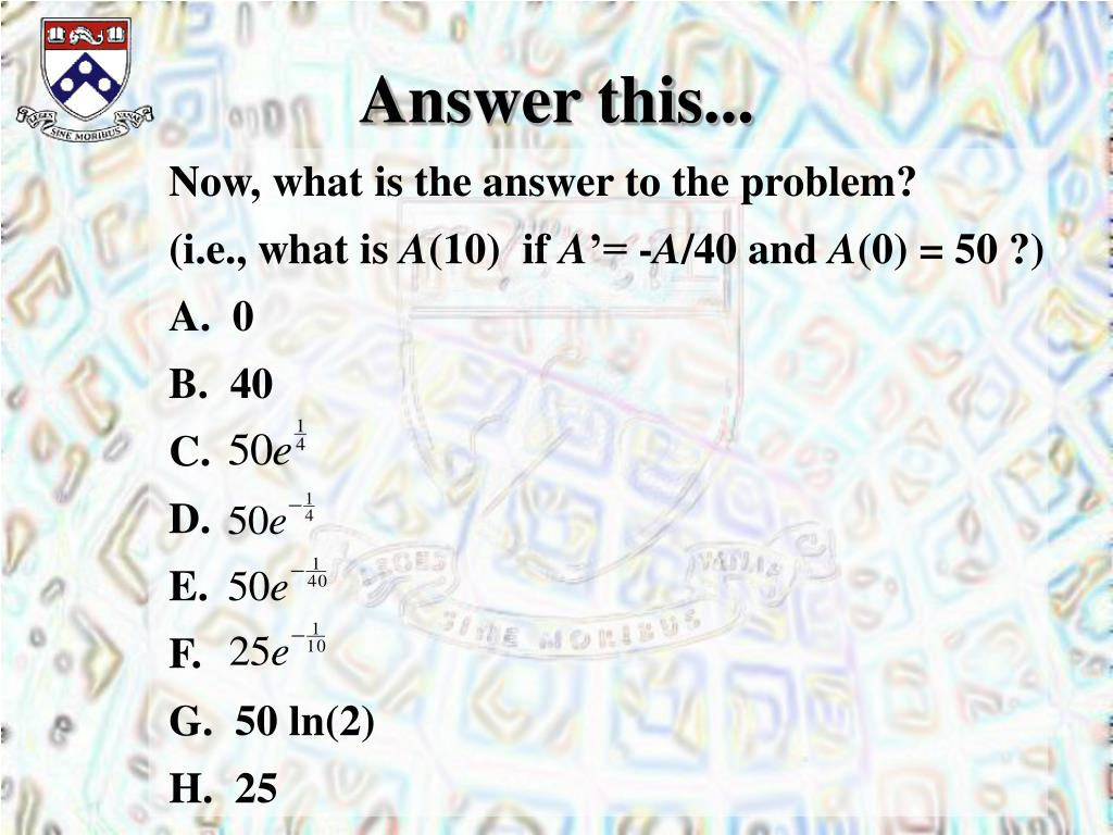Answer this...