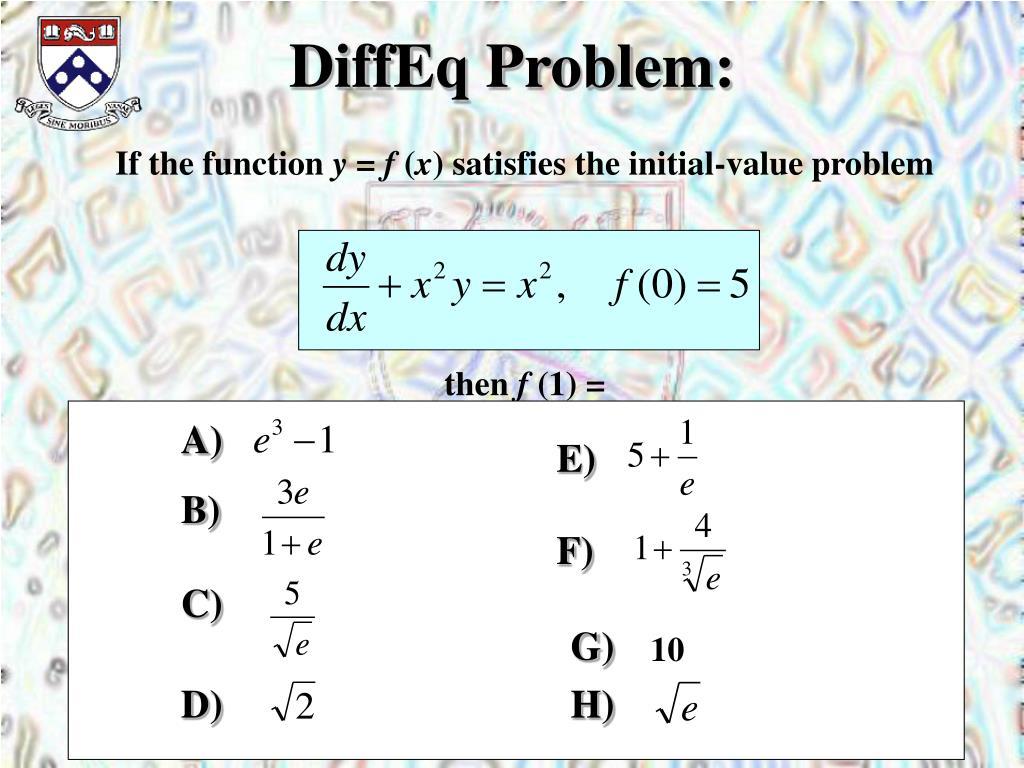 DiffEq Problem: