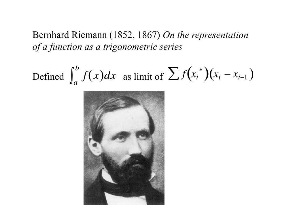 Bernhard Riemann (1852, 1867)