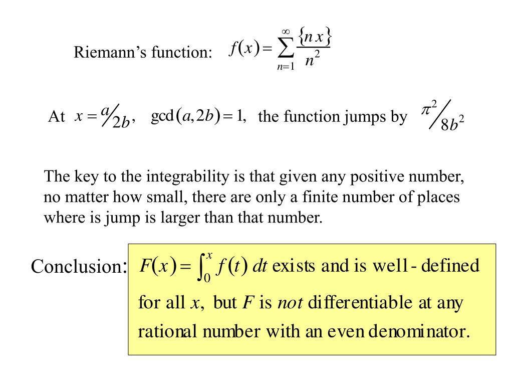 Riemann's function: