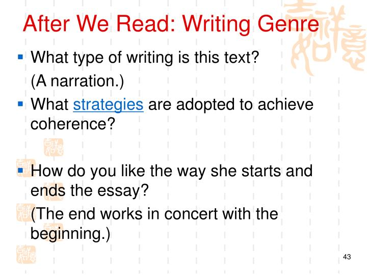 After We Read: Writing Genre