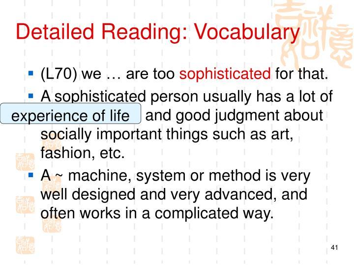 Detailed Reading: Vocabulary