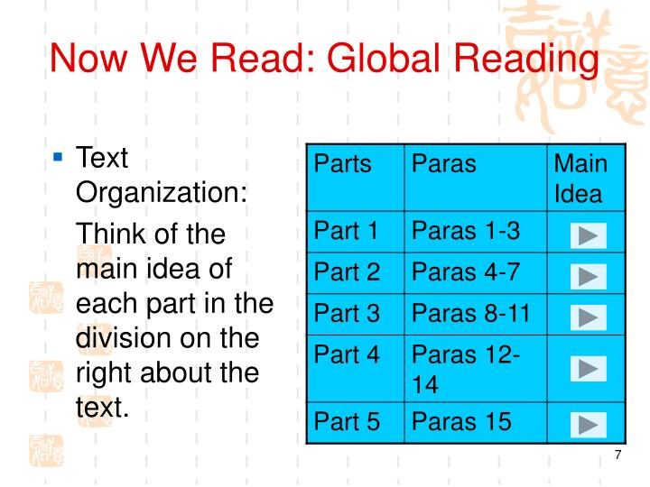 Now We Read: Global Reading