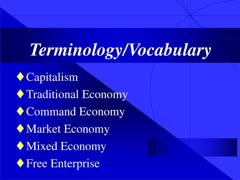 Terminology/Vocabulary